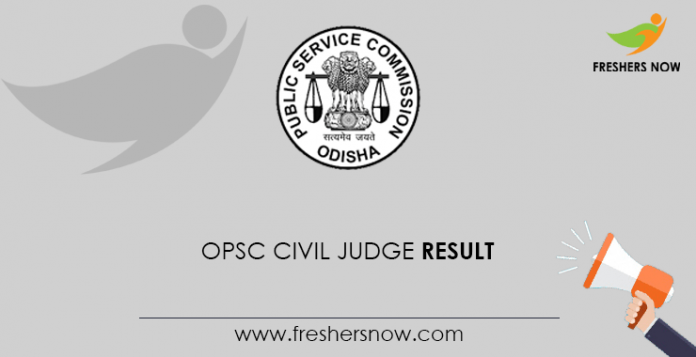 OPSC Civil Judge Result