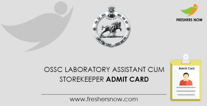 OSSC Lab Assistant and Grocer Admission Card