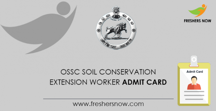 OSSC Soil Conservation Extension Worker Admit Card