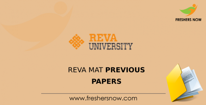 REVA MAT Previous Papers