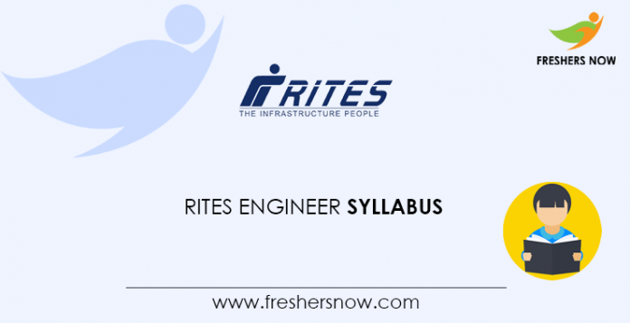 RITES Engineer Syllabus 2020