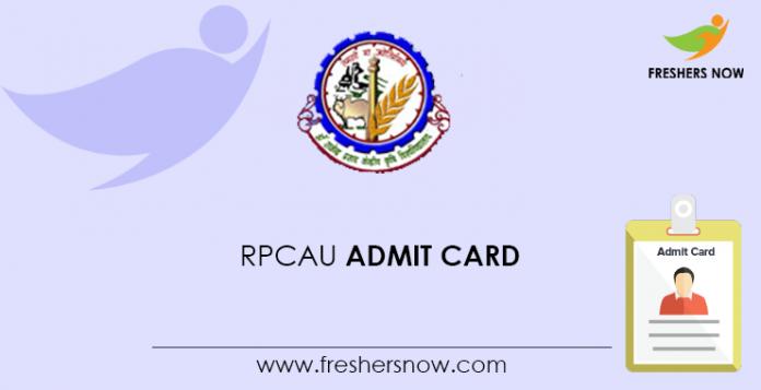 RPCAU Admit Card