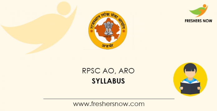 RPSC Agriculture Officer Syllabus 2020