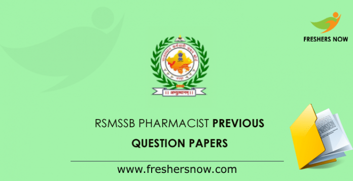 RSMSSB Pharmacist Previous Question Papers