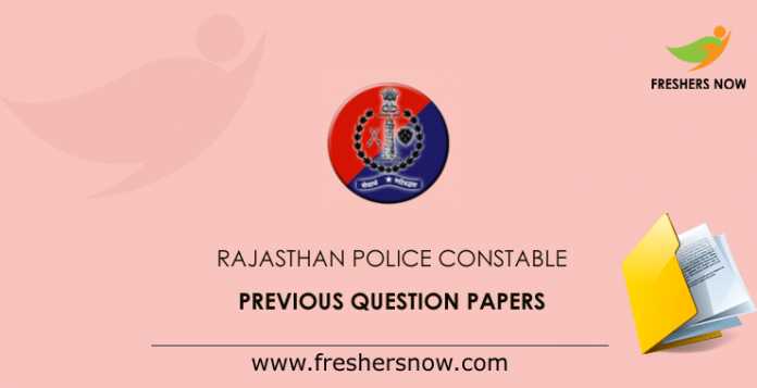 Rajasthan Police Constable Previous Question Papers