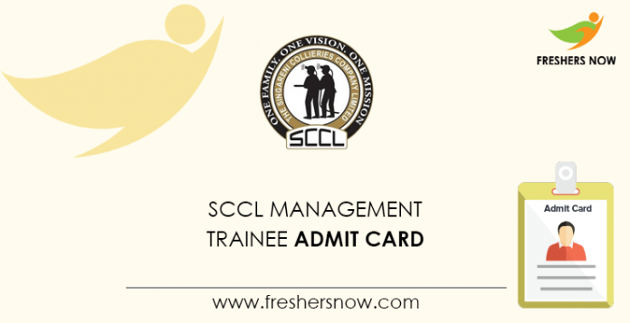 SCCL Management Trainee Admission Card