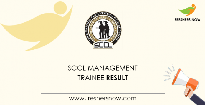 SCCL Management Trainee Result