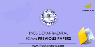 TNEB Departmental Exam Previous Question Papers