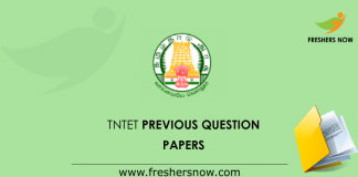 TNTET Previous Question Papers