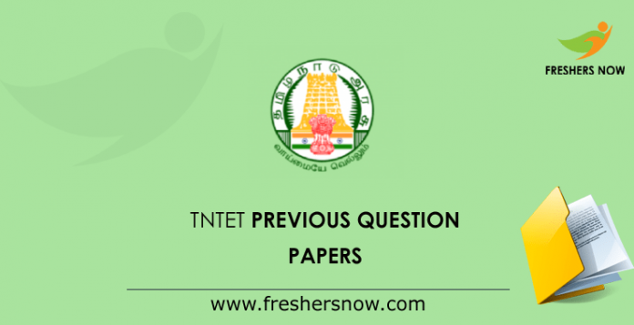TNTET Previous Question Documents