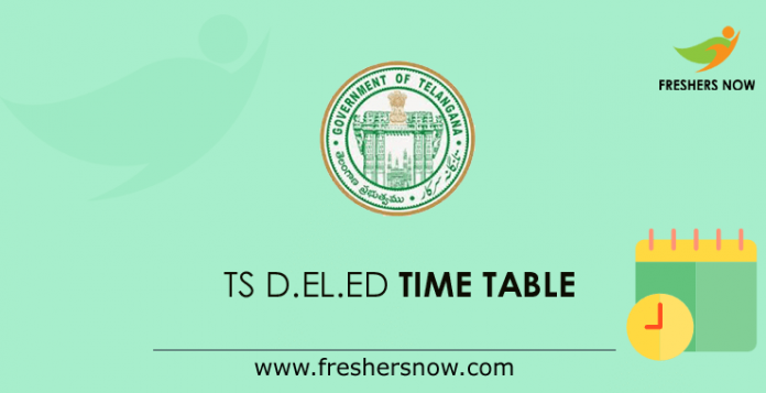 TS D.El.Ed Time Table