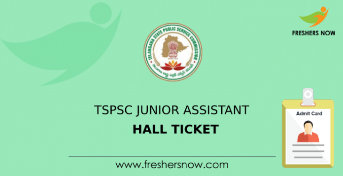 TSPSC Junior Assistant Hall Ticket