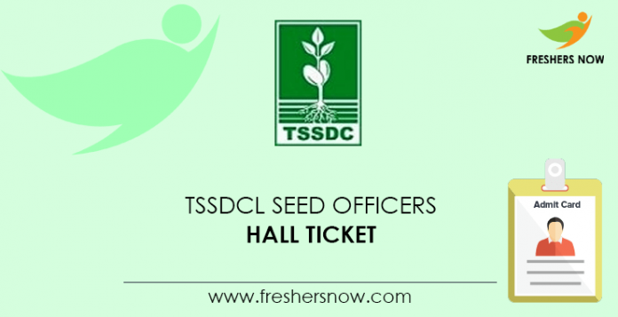 TSSDCL Seed Officers Hall Ticket