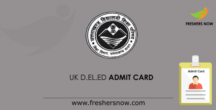 UK D.El.Ed Admit Card