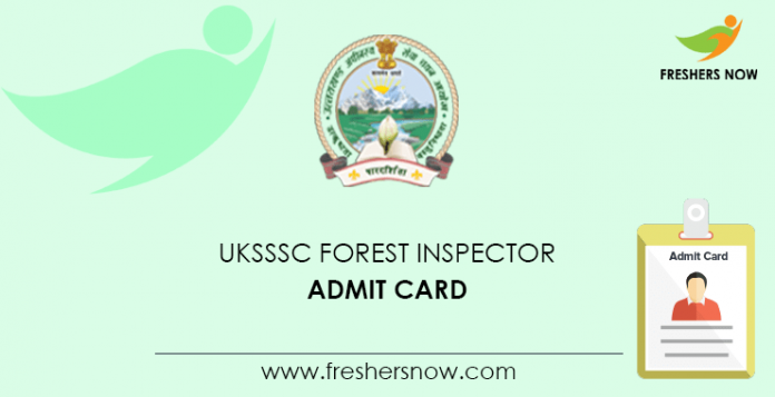 UKSSSC Forest Inspector Admission Card