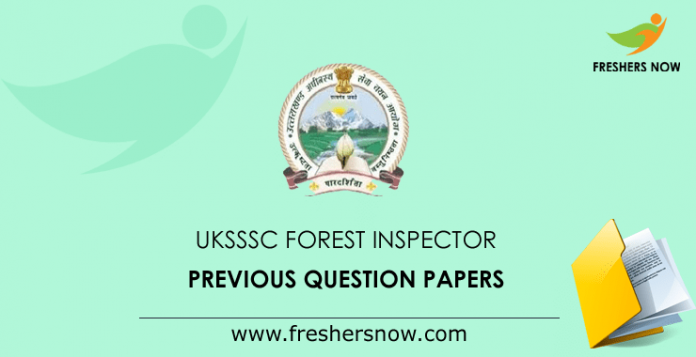 UKSSSC Forest Inspector Previous Question Papers