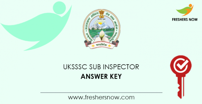 UKSSSC Sub Inspector Answer Key