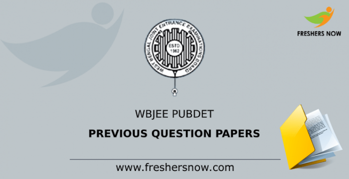 WBJEE PUBDET Previous Question Papers