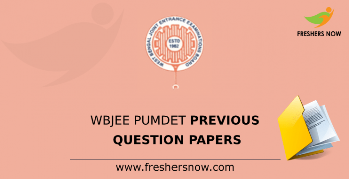 WBJEE PUMDET Previous Question Papers