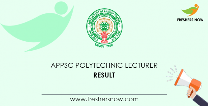 APPSC Polytechnic Lecturer Result