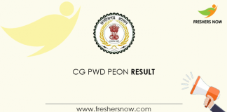 CG PWD Peon Result