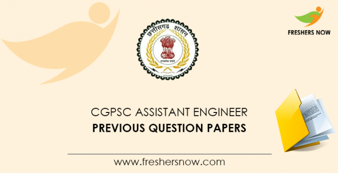CGPSC Assistant Engineer Previous Papers