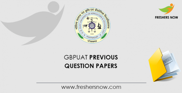 GBPUAT Previous Question Papers