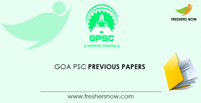 Goa PSC Previous Papers