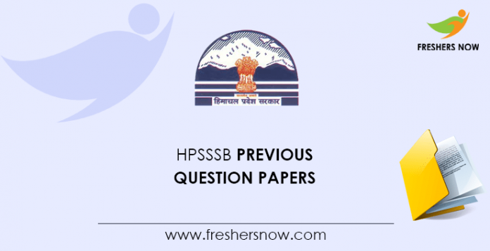 HPSSSB Previous Question Papers