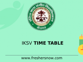 IKSV Time Table