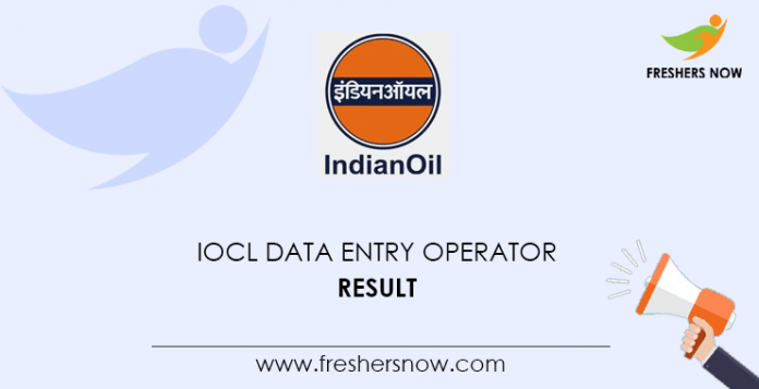 IOCL Data Entry Operator Result
