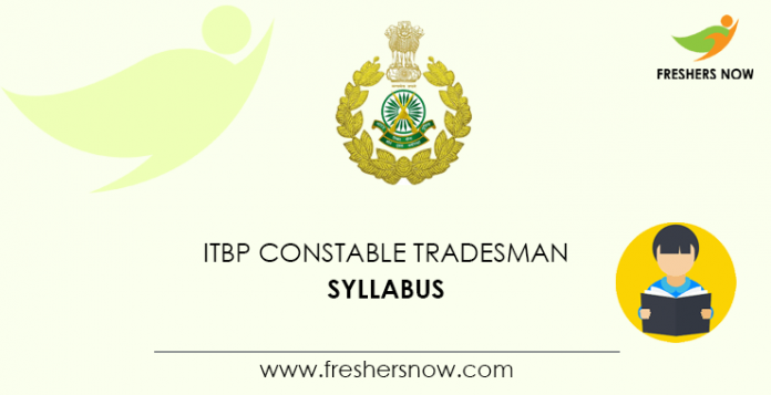 ITBP Constable Tradesman Syllabus
