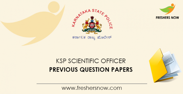 KSP Scientific Officer Previous Question Papers