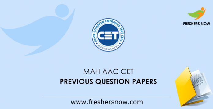 MAH AAC CET Previous Question Papers