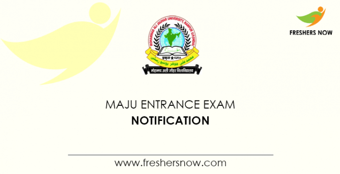 MAJU Entrance Exam Notification