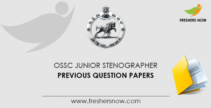 OSSC Junior Stenographer Previous Question Papers