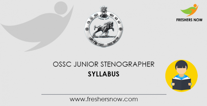 OSSC Junior Stenographer Syllabus
