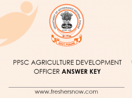 PPSC Agriculture Development Officer Answer Key