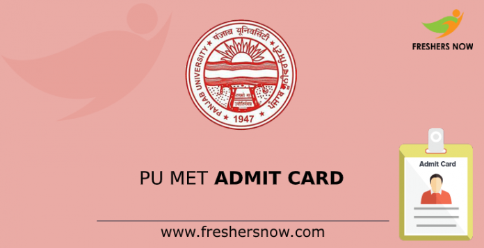 PU MET Admit Card