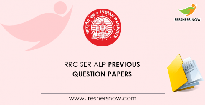 RRC SER ALP Previous Question Papers