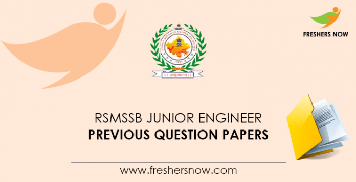 RSMSSB Junior Engineer Previous Question Papers