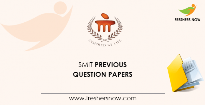 SMIT Offline Test Previous Question Papers