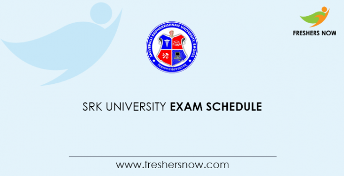 SRK University Exam Schedule