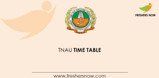 TNAU Time Table