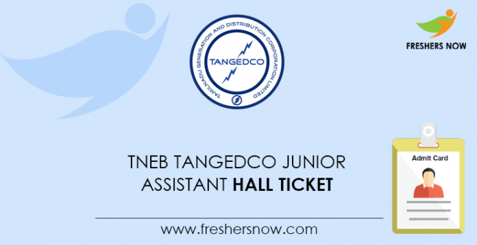 TNEB TANGEDCO Junior Assistant Hall Ticket