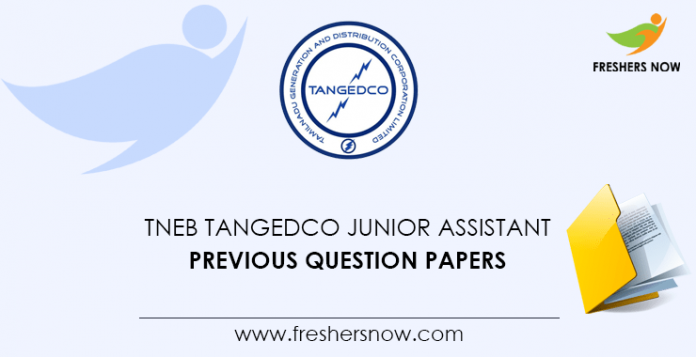 TNEB TANGEDCO Junior Assistant Previous Question Papers