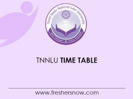 TNNLU Time Table