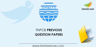 TNPCB AE Previous Question Papers