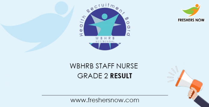 WBHRB Staff Nurse Grade 2 Result