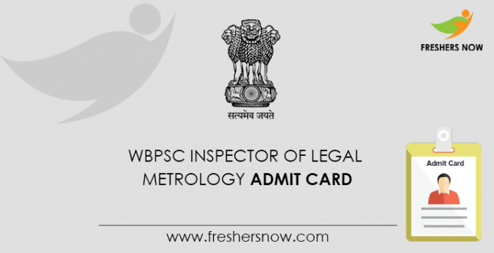WBPSC Inspector of Legal Metrology Admit Card
